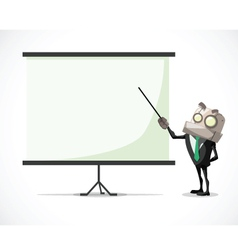 businessman chart vector image vector image