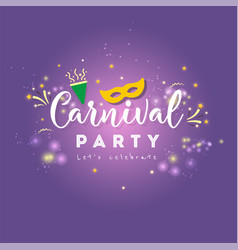 Carnival concept banner with mask stars vector