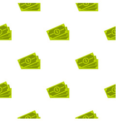 cash pattern flat vector image vector image