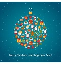Christmas Ball Toy vector image vector image