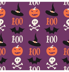 Cute halloween seamless pattern vector