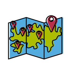 delivery pointer map gps navigation symbol vector image
