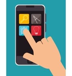 education online smartphone aplication design vector image