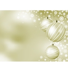 Elegant christmas card with balls eps 8 vector