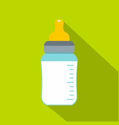 feeding bottle icon flat style vector image