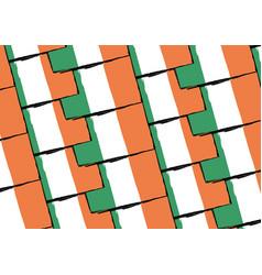 Grunge ireland flag or banner vector