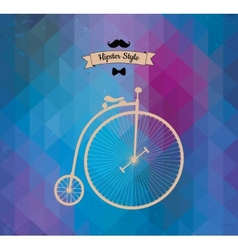 Hipster monocycle Triangle background vector image