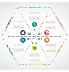 Infographic of hexagon vector