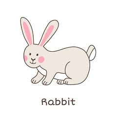 Lineart rabbit vector image vector image