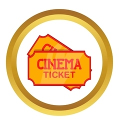 Movie ticket icon vector