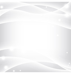 Silver waves background vector image