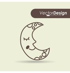 sky drawn icon design vector image vector image