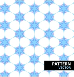 Snowflakes winter pattern vector image vector image