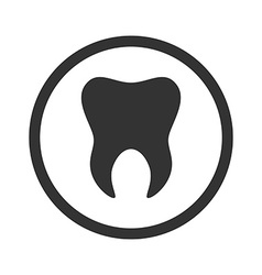 Tooth icon Logo template of tooth Dental symbol vector image vector image