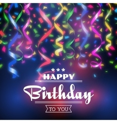 Typographic happy birthday background vector image vector image