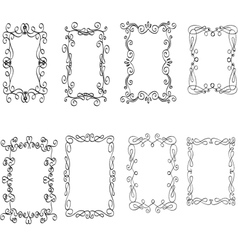 Vintage decorative frames vector image