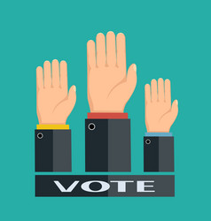 voting in elections vector image vector image