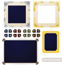 Vintage photo frames and corners vector image