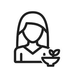 Woman healthy food vector