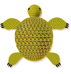 turtle zentangle pattern vector image