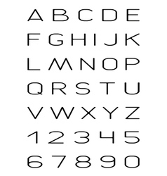 thin font vector image
