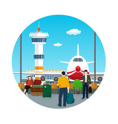 Icon waiting roomtravel and tourism concept vector