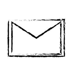 email message envelope letter communication sketch vector image