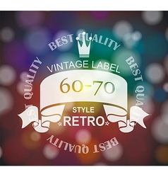 Retro label with ribbon and crown vector