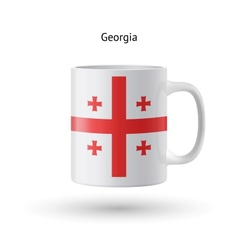 Georgia flag souvenir mug on white background vector