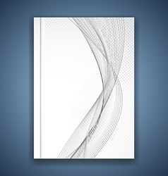 Abstract swoosh grey wave brochure template vector