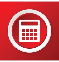 Calculator icon on red vector