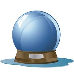 Glass globe vector