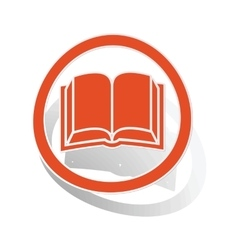 Book sign sticker orange vector