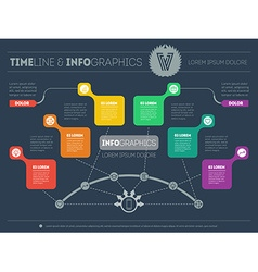 Presentation slide template or business vector