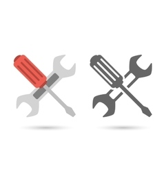 Repair icon Wrench and screwdriver vector image