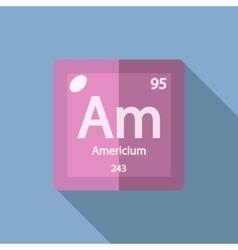Chemical element americium flat vector