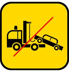 Tow truck use prohibited vector
