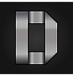 Letter metal chrome ribbon - d vector