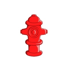 Fire hydrant icon cartoon style vector