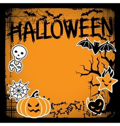 background of Halloween-related objects and vector image vector image