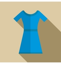 Blue dress icon in flat style vector image