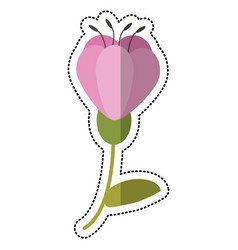 Cartoon flower spring decoration image vector