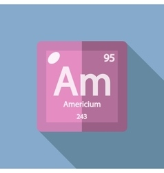 Chemical element americium flat vector