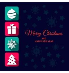 Christmas icon card vector image