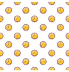 Clock pattern cartoon style vector