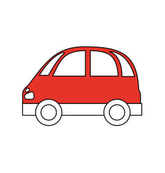 Color silhouette image red small car icon vector