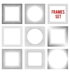 Edgy lines frames background set style vector
