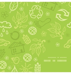 Environmental frame corner pattern background vector