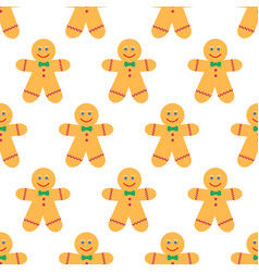 gingerbread man pattern vector image