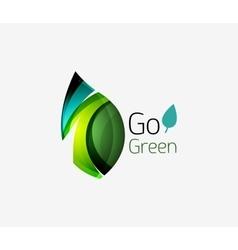 Go green logo green nature concept vector